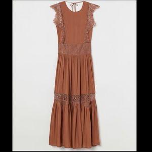 H&M Maxi Lyocell Lace Dress